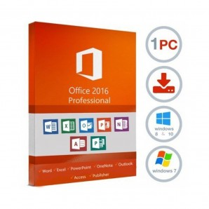 Licence 1 PC Microsoft Office 2016 Professional Pro Plus
