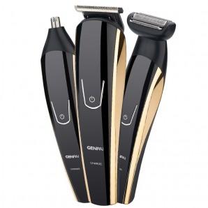 Tondeuse et Rasoir électrique GENPAI trois-en-un multi-usages Rechargeable Barbe couteau rasoir cheveux