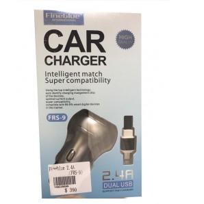 Chargeur de Voiture Auto Fineblue Frs-9 Avec Câble Inclus Micro usb