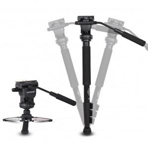 YUNTENG VCT-588 Pro caméra fluide glisser trépied monopode pour Canon Nikon Pentax DSLR