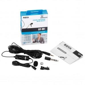Microphone Cravate 3,5 mm Boya by-M1 pour Smartphone - appareil Canon - Nikon Noir