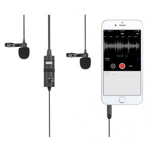 Microphone Double BOYA BY-M1DM omnidirectionnel Lavalier