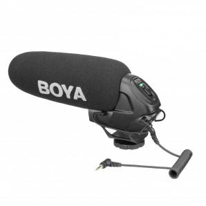 Microphone audio-vidéo BOYA BY-BM3030 a fusil de chasse pour appareils photo reflex Canon Nikon Sony