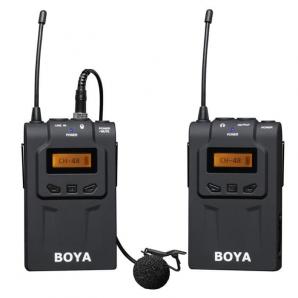 Système de microphone BOYA BY-WM6 uhf  sans fil pour caméras et caméscopes