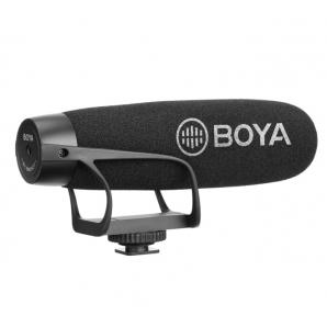 Microphone BOYA BY-BM2021Cardioïde pour Appareil reflex numérique & smartphone android avec 3.5MM TRRS Adaptateur de câble