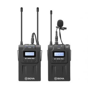 Système de Microphone sans Fil BOYA BY-WM8 Pro-K1 UHF Portée Effective 100M pour Caméscopes Canon Nikon Sony DSLR