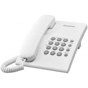 Téléphone fixe filaire KX-TS500MX à une ligne Panasonic (blanc)