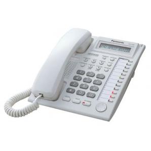 Téléphone fixe filaire Panasonic KX-T7730X avec répondeur pour lignes PABX uniqueme