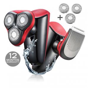 Rasoir électrique homme WMARK C09 barbe Tondeuses à cheveux USB rechargeable 3 lames de rasoirs lavable