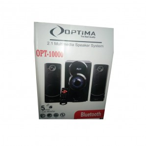 Haut parleur multimédia Optima OPT-10000 Bluetooth - USB - Carte SD - Radio FM