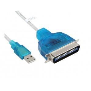 Câble d'imprimante USB IEEE 1284 Parallele vers USB - Longueur 1.5M
