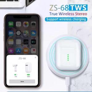 Ecouteur Bluetooth 5.0 tws Zs-68 pop-up sans fil appel dans l'oreille tactile avec boîte de charge 3-4 heures de temps de jeu