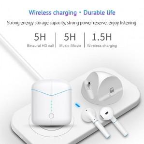 Écouteur Bluetooth 5.0 tws Zs-66 pop-up sans fil appel dans l'oreille tactile avec boîte de charge 3-4 heures de temps de jeu
